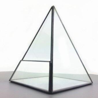Harga Glass Terrarium Fairy Miniature Garden Moss Greenhouse - Pyramid Shape