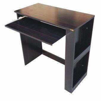 Grace Shop โต๊ะวางคอมพิวเตอร์ โต๊ะทำงานไม้ 80 ซม (สีโอ๊ด/ดำ)