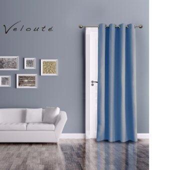 Veloute ผ้าม่านประตูกันแสงยูวี รุ่น Dimout (สี Night Blue)
