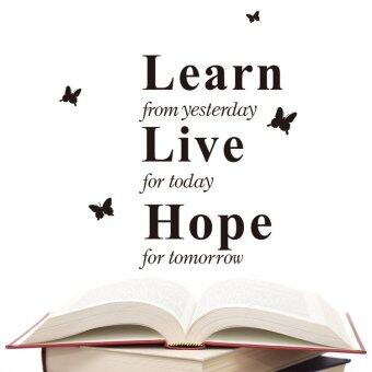 Harga Learn Live Hope English Words and Quotes PVC Wall Stickers