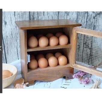 KING ตู้ไม้เล็กสำหรับใส่ไข่