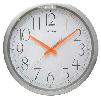 RHYTHM นาฬิกาแขวน(16นิ้ว) รุ่น CMG805DZ19 (Silver)