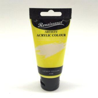 Master Art สีอะครีลิค Acrylic Renaissance 75มล. สีเหลือง Lemon Yellow