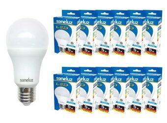 Saneluz หลอดไฟ LED Bulb SZ 5W หลอดปิงปอง (Daylight แสงขาว) 12 หลอด