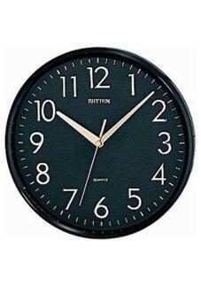 RHYTHM นาฬิกาแขวน รุ่น CMG716-NR02 (สีดำ)