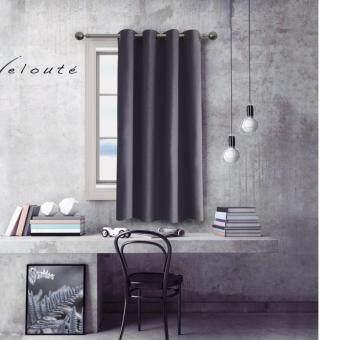 Veloute ผ้าม่านหน้าต่างกันแสงยูวี รุ่นDimout - สี Silver grey 1 ชิ้น