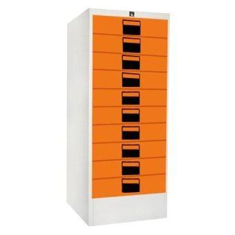 ADHOME ตู้เอกสาร 10 ลิ้นชัก รุ่น 10L (สีส้ม)
