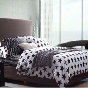 AI ZHUO ชุดเซ็ท ผ้านวม ชุดเครื่องนอน ชุดผ้าปูที่นอน (รวมผ้านวม) 6 ฟุต SAUG-006