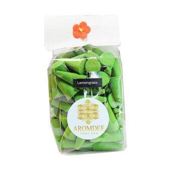 Aromdee cone incenses กำยานหอม อโรม่า กลิ่นตะไคร้สด ถุงละ 100 เม็ด