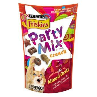 ขายยกลัง Friskies Party Mix Mixed Grill ฟริสกี้ส์ ปาร์ตี้มิกซ์ ขนมแมว สูตรมิกซ์กริลล์ รสไก่ เนื้อ และแซลมอน 16packs x 60g