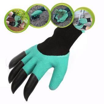 Garden Genie Gloves ถุงมือ ขุดดิน พรวนดิน ถุงมือขุดดินทำสวน