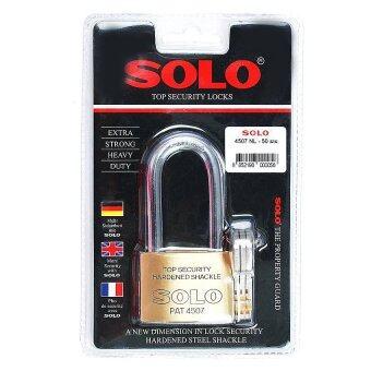 โซโล แม่กุญแจ กุญแจล็อค ทองเหลือง NO.4507NL 55mm. ห่วงยาว (สีทอง)