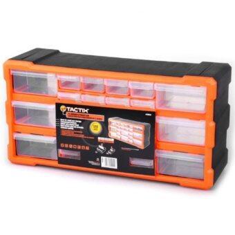 Mustme Tactix รุ่น 320632 กล่องเครื่องมือพลาสติก ลิ้นชัก 22 ช่อง (สีดำ/ส้ม)