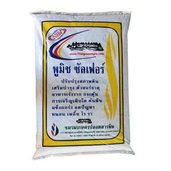 THAIGREENAGRO ไทยกรีนอะโกร THAIGREEN SHOP สินค้าการเกษตร พูมิชซัลเฟอร์-TM หินแร่ภูเขาไฟ คุณภาพสูง ช่วยบำรุงดิน ให้สมบูรณ์ ต้นไม้โตเร็ว ดินโปร่ง ร่วนซุย)