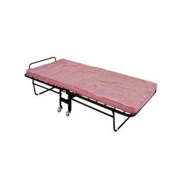 DSB Decor เตียงพับสปริงพร้อมที่นอน2นิ้ว (สีชมพู)