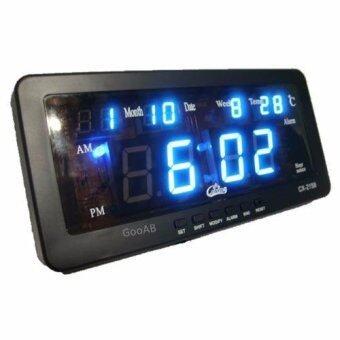 GooAB Shop นาฬิกาปลุก ตั้งโต๊ะ ติดผนัง LED พร้อมวันที่ ขนาด 7 นิ้ว + รับประกัน 6 เดือน