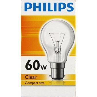 Philips หลอดไส้ ทรงปิงปอง 60W B22 ใส x 1 หลอด