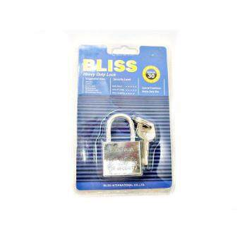 แม่กุญแจ BLISS รุ่น Extra-CR 30 พร้อมดอกกุญแจ 3 ดอก ( สีเงิน )