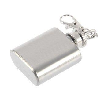 โอ้แบบพกพา 28.35กรัมสเตนเลสกระติกเหล้าแบบพกเหล้ากับพวงกุญแจ