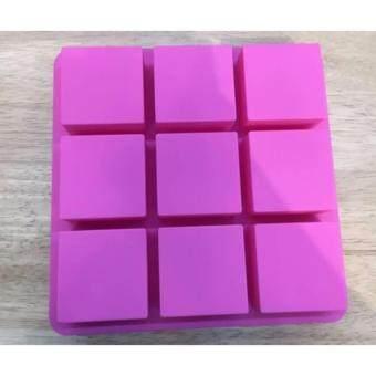 แม่พิมพ์ซิลิโคนรูปทรงสี่เหลี่ยมผืนผ้า 6 ช่องสำหรับพิมพ์วุ้น ช็อคโกแลต ขนมชั้น เยลลี่ น้ำแข็ง หรือพิมพ์สบู่ เทียนหอม