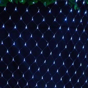 Light Farm ไฟตาข่าย LED ขนาด 1.5 x 1.5 ม. สี ขาว ไฟตกแต่ง ไฟประดับ LED แพ็ค 1 ชุด