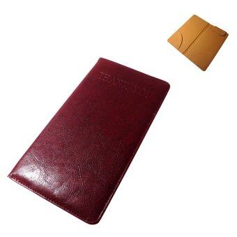 Thai Style สมุดทอนเงินแบบหนีบสลิปหนีบเงินธนบัตรได้ สีแดง