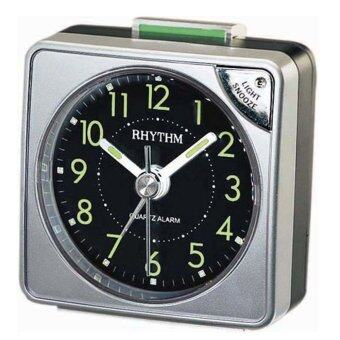 Rhythm นาฬิกาปลุก รุ่น CRE211NR66 (สีเงิน)