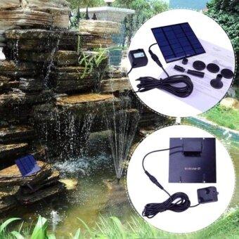 Basngkok life Solar Power Water Pump Aquarium Fountain Pool Garden Pond Submersible Pump (Black)