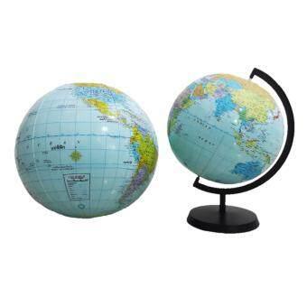 บอลโลกเป่าลมพร้อมฐานรอง ขนาด 12 นิ้ว (ภาษาอังกฤษ) และบอลโลกเป่าลมขนาด 16 นิ้ว (ภาษาอังกฤษ-ไทย)