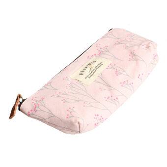 ปากกาดินสอลายดอกไม้สไตล์ชนบทกระเป๋าผ้าของขวัญกระเป๋าของขวัญเปลือกสีชมพู