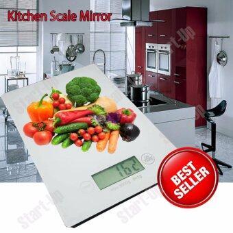 Startup เครื่องชั่งน้ำหนัก Mirror Black Kitchen Scale (สีขาว)