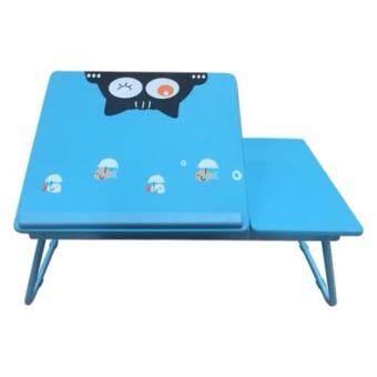 โต๊ะเอนกประสงค์ โต๊ะทำการบ้าน โต๊ะอ่านหนังสือ ลายเแมวเหมียว สำหรับเด็ก (สีฟ้า)