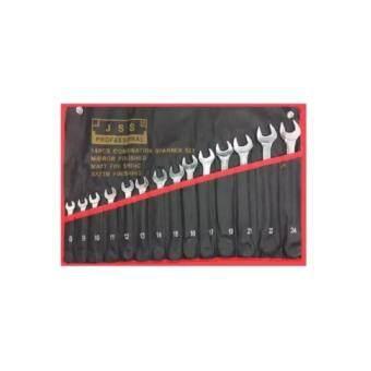 Tools Pro JSS เครื่องมือช่าง ประแจแหวนข้างปากตาย 14 ตัวชุด เบอร์ 8-24 MM