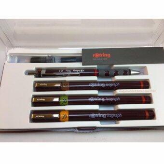 ชุดปากกาเขียนแบบ rOtring Isograph Junior set (หัวขนาด 0.2 / 0.3 / 0.5 mm. พร้อมดินสอกด)