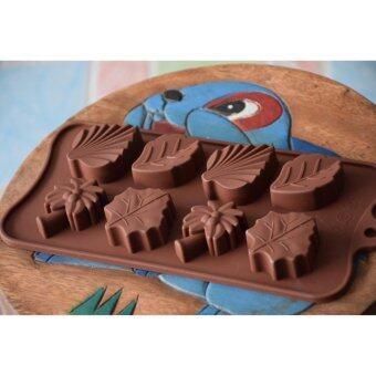 Freshyware แม่พิมพ์ซิลิโคน ใบไม้หลากชนิด ทำวุ้น เจลลี่ น้ำแข็ง ชอคโกแลต chocolate ขนมไทย food grade