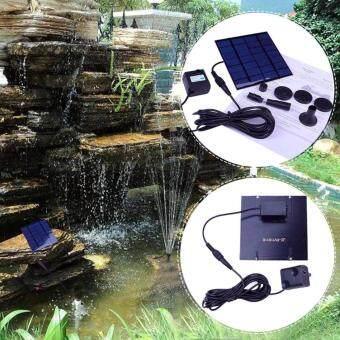 JIMMEE น้ำพุพลังเเสงอาทิตย์ รุ่นเเผงเเยก Solar Power Water Pump Aquarium Fountain Pool Garden Pond Submersible Pump