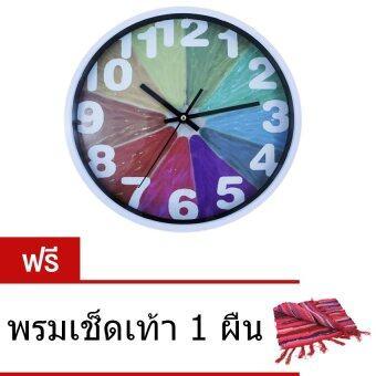 CKL นาฬิกาแขวนผนัง 12 นิ้ว ลายวินเทจ รุ่น N-325 ( ฟรี พรมเช็ดเท้า 1 ผืน )