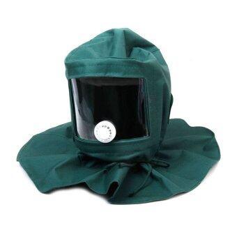 ช่างขัดผิวไม้ขัดฝา Windproof เฉพาะหมวกหน้ากากป้องกันฝุ่นทรายเครื่องมือ (สีเขียว)
