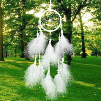 Harga Handmade Dream Catcher Net with Feather Wall Decor Ornament 21.65' Dreamlike