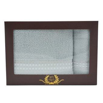 Chapeau เซทผ้าขนหนู ขนาด 24 x 48 และ ขนาด 15 x 30 - สีเทาพาสเทล (2 ผืน)