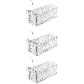 papamami Cage Rat Trap กรงดักหนูใหญ่ ขนาด 7 นิ้วx14นิ้วx7นิ้ว (3กรง)