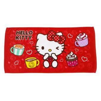 Sanrio ผ้าขนหนู Hello Kitty KT8014R ขนาด 16 x 32 นิ้ว