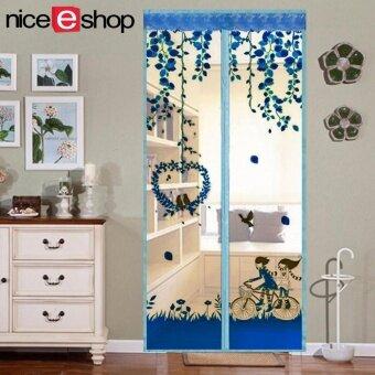 แนะนำ niceEshop Magnetic Mosquito Net Screen Door Mesh Screen Curtain,Sky Blue เปรียบเทียบราคา
