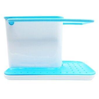Triple3Shop ชุดอนามัย ทีวางอุปกรณ์ล้างถ้วย จาน 3 in 1 (สีฟ้า)