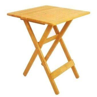 โต๊ะไม้ยางพับได้ ขนาด 60 cm. (สีธรรมชาติ)