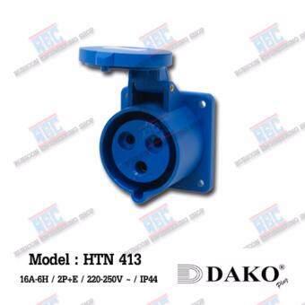 HTN413 เต้ารับฝังตรง (2P+E)(3P)16A /220-250V ~/ IP44