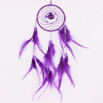 Harga niceEshop Dream Catcher Dreamcatcher Feathers with a Small Bell Wall Hanging Decor,Purple