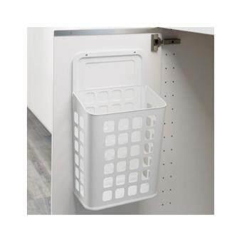 ถังขยะสำหรับติดตามผนังตู้ สีขาว