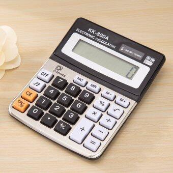 ELECTRONIC CALCULATOR เครื่องคิดเลข รุ่น KK-800A แบบตั้งโต๊ะ