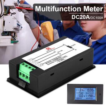 DC 100 V 100 Amps แอลซีดีดิจิตอลโวลต์แอมมิเตอร์โวลต์มิเตอร์วัดกระแสไฟวัตต์พลังงาน BI509